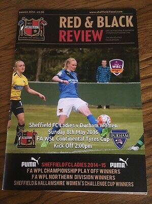 Sheffield FC Ladies v Durham Women 8 May 2016