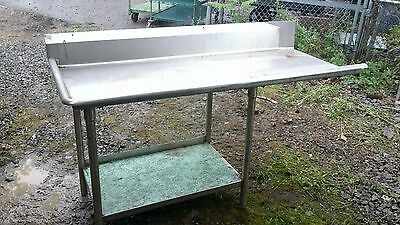 66'' x 30 1/2'' Left Side Clean Dish table Commercial Heavy Duty S/S Dishtable