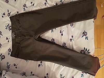 Men's Fat Face Trousers 32 Waist 34 leg Khaki