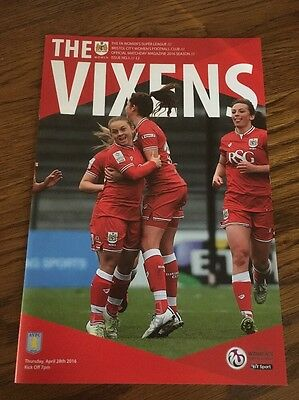 Bristol City Women v Aston Villa Ladies 28 April 2016