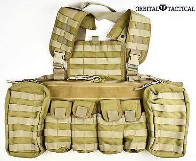 BDS Tactical V Ops Tactical Chest Rig 8 Mag Pouch Coyote Brown