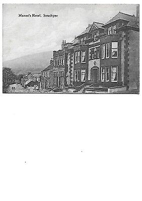 STRATHYRE Stirlingshire Munro's Hotel Early Advertising Postcard