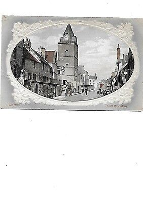 SOUTH QUEENSFERRY Postcard High Street Embossed Early