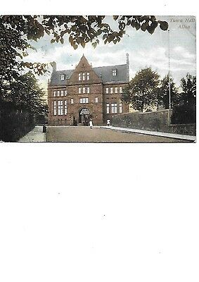 ALLOA Town House Clackmannanshire Early Animated Postcard 1906 Postmark