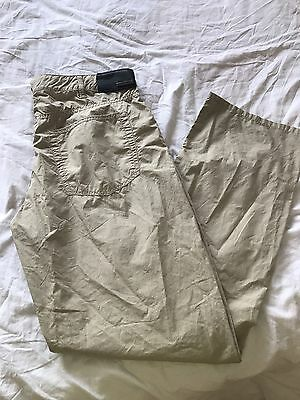 men's ARMANI Jean Cotton Trousers In Size 36