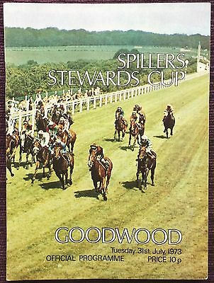 Goodwood 1973 Stewards Cup - Alphadamus - Henry Cecil - Rare Race Card