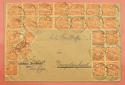1922 Germany Numeral 1 Multi Franked Cover Laer Cancel