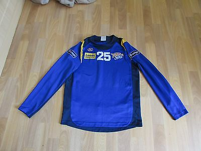 ISC LEEDS Rhinos Building Society PLAYERS Top No 25 RUGBY League ADULT Size M