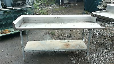 7' x 30'' Left Side Clean Dish table Commercial Heavy Duty S/S Dishtable