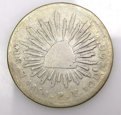 Mexico 1854 1 Real Coin Free S/h #2144