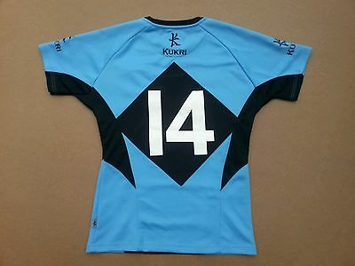 Cardiff RFC Rugby Shirt #14 Excellent Condition Size Large Blues Wales