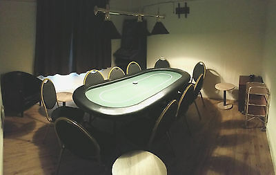Complete Poker Room, inc. Table, Chairs, Light Fitting, Chips, Cards etc...