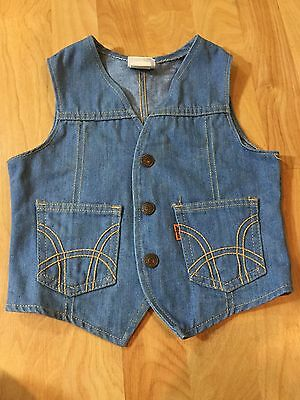 Toddler Child Vintage LEVIS 1960s Orange Tab Vest Hard to Find Rare sz 5 WPL423