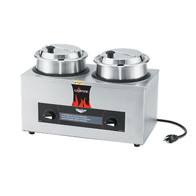 """Vollrath 72040 9-1/4""""W Cayenne Countertop Twin Well Rethermalizer"""