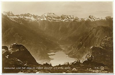 Coruisk and Cuillin Skye b&w real photo - photo by A Gardner - Valentines 1930's