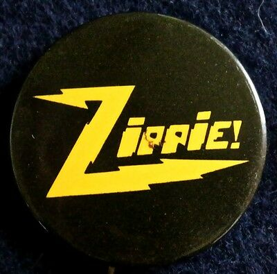 Zippie = Yippies With More Zip Nyc 1968  - Original Pinback Button Rare