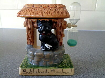 Vintage Manor Ware Wishing Well Egg Timer & Black cat, Butlinland Minehead
