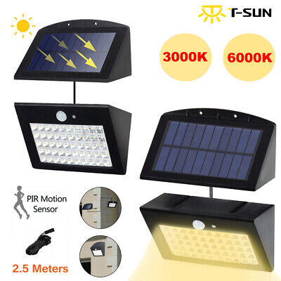 Solar Powered PIR Motion Sensor LED Security Spotlight Wall Light Outdoor Garden