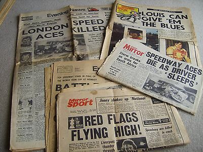 Early 1970's Newspapers with Speedway headline etc, Road death tragedy etc etc