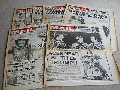 7 1982 Speedway Mail newspapers, Oct' & Nov' Voulme 10 issues
