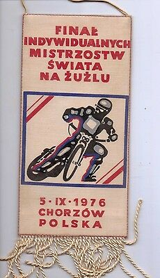 Souvenir Pennant from the 1976 World Speedway Championships in Poland