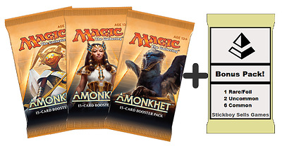 Amonkhet MtG Draft Pack - 3 x Amonkhet Boosters + BONUS Prize pack