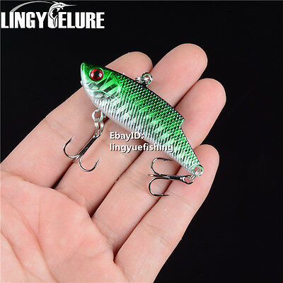 1Pcs Green Metal Spoon Fishing Lures Hard Bass CrankBait Tackle 5.5cm/10g