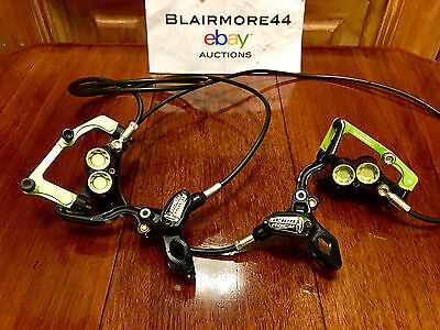 HOPE TECH - TEAM GREEN - Race Evo M4 Front & Rear Hydraulic Disc Brakes >OFFERS!