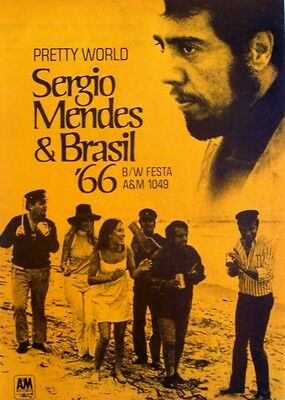 SERGIO MENDES & BRASIL '66 1969 Poster Ad PRETTY WORLD