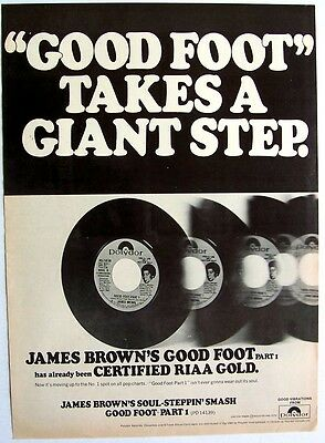 JAMES BROWN 1972 Poster Ad GET ON THE GOOD FOOT Part 1