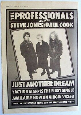 THE PROFESSIONALS 1980 Poster Ad JUST ANOTHER DREAM steve jones paul cook