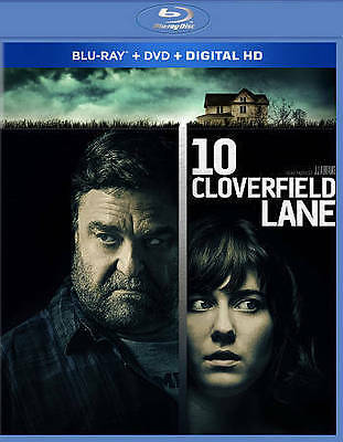 10 Cloverfield Lane (Blu-ray/DVD, 2016, 2-Disc Set, Includes Digital Copy)