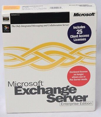 Microsoft BackOffice Exchange Server Enterprise Edition with 25 client licenses