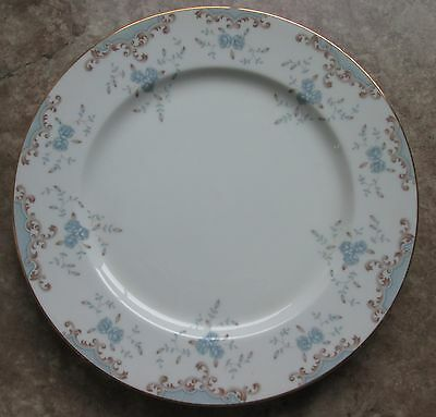 "Imperial China Dinner Plate with W. Dalton Design - Gold Trim 10-1/4"" - #5303"
