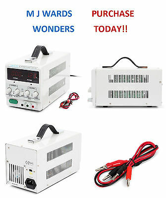 DC Power Supply 0-30v 0-5a Regulated Adjustable Variable Linear Lab Bench