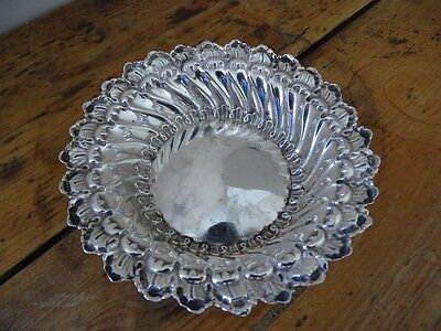 Antique Silver Ornate Bowl Dish Chester 1896 William Neal