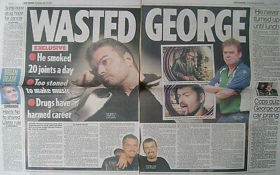 GEORGE MICHAEL - newspaper clipping / cutting