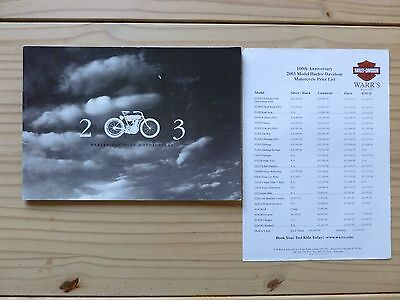 Harley-Davidson 2003 Motorcycle Catalogue And Price List (Paperback)
