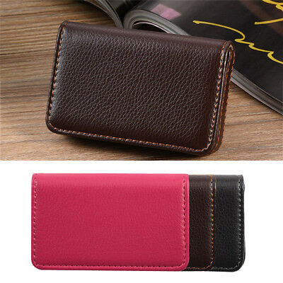 Business ID Credit Card Wallet Holder PU Leather Pocket Case Purse Waterproof