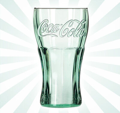 "Genuine Coca-Cola Green Glass Large Cup 6"" Drink Vintage Coke NEW 17 OZ"