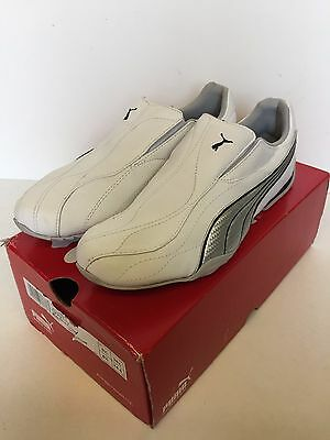 New Puma Ladies women's white silver Leather casual trainers - Ryu Size 5.5 uk