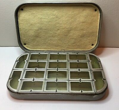 Vtg! Wheatley SilMalloy Fly box 16 Compartments Fishing Working Condition Estate