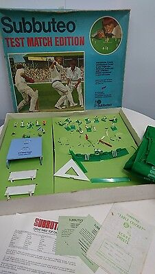 Vintage Subbuteo Table Test Match Edition Cricket Game