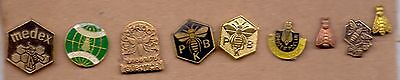 Nine Pin Pins - Bee Bees Honey Beekeeping - Yugoslavia Lot 4