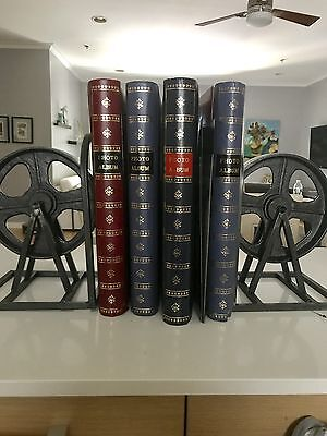 Film Reel Bookends-Never Used, Vintage Distressed