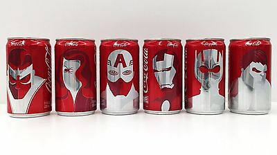 New Marvel Coca Cola Mini Can Set - Coke Limited First Edition Collectors Set -