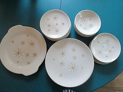 Vintage Mid Century Lot of 23 Royal China Sebring STAR GLOW ATOMIC Dishes
