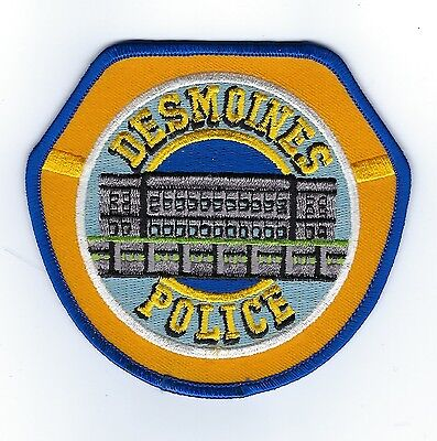 Des Moines (Polk County) IA Iowa Police Dept. patch - NEW! *STATE CAPITAL*