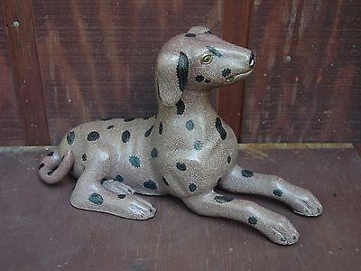 Large 16 Inches Long 9 Inches High Chinese Cloisonne Dog Figure Statue Nr