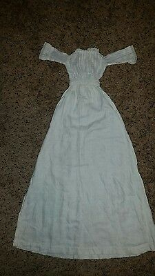 Antique German Bisque??Doll christening gown Long Dress. Cleaned, Sold as is!